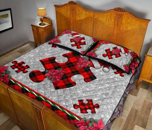 Autism Christmas Faux Glitter Print Bedding Sets5