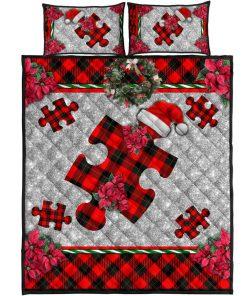 Autism Christmas Faux Glitter Print Bedding Sets6