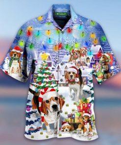 Beagle Dog Christmas Hawaiian Shirt