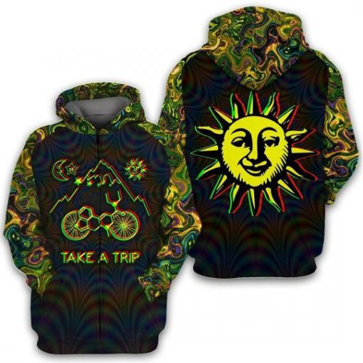 Bicycle Day Take A Trip 3D All over print hoodie1