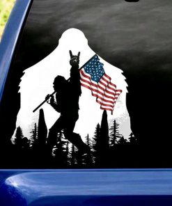 Bigfoot American Flag Stickers