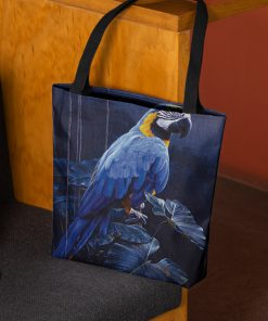 Blue and gold Macaw tote bag 1