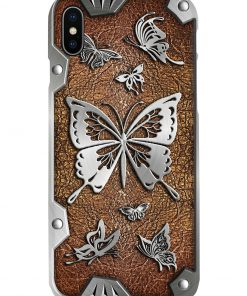 Butterflies as metal phone case 7