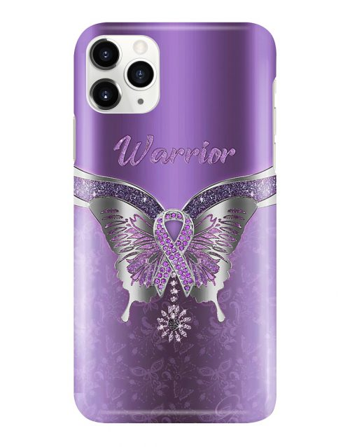 Butterfly Warrior Fibromyalgia Awareness Phone case 11