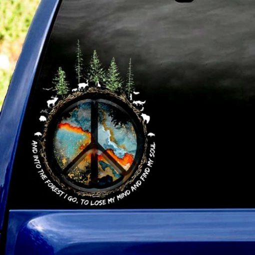 Camping And into the forest I go to lose my mind and find my soul stickers