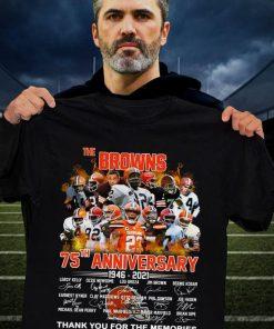 Cleveland Browns 75th Anniversary 1946-2021 Shirt 0