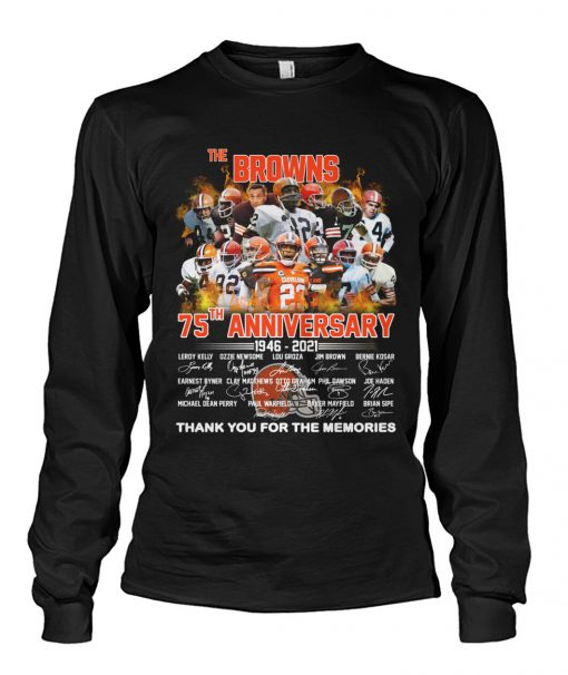 Cleveland Browns 75th Anniversary 1946-2021 long sleeve