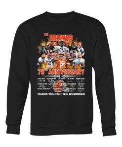 Cleveland Browns 75th Anniversary 1946-2021 sweatshirt