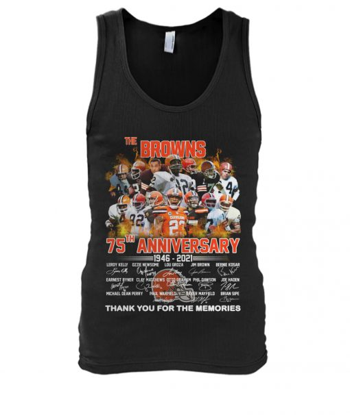 Cleveland Browns 75th Anniversary 1946-2021 tank top