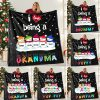 Custom Kids' Names I love being a Grandma personalized fleece blanket