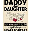 Daddy and Daughter Not always eye to eye but always heart to heart Georgia and Texas poster