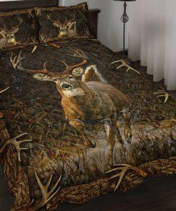 Deer hunting camouflage bedding set 1