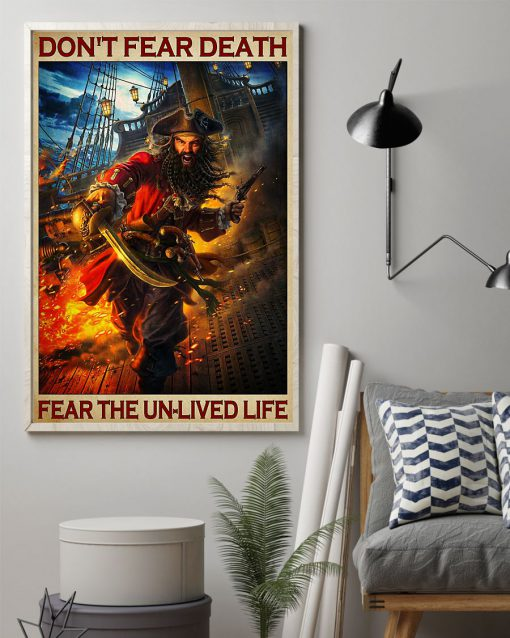 Don't fear death fear the unlived life poster 1