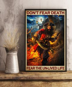 Don't fear death fear the unlived life poster 2