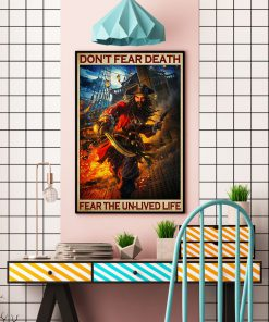 Don't fear death fear the unlived life poster 4
