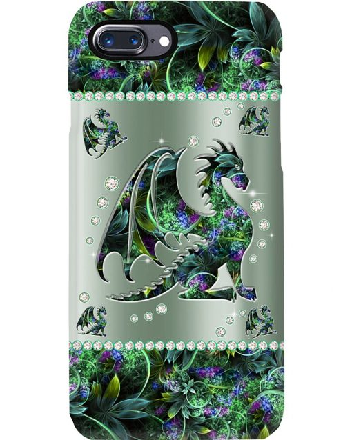 Dragon Metal Flowers Pattern Phone Case