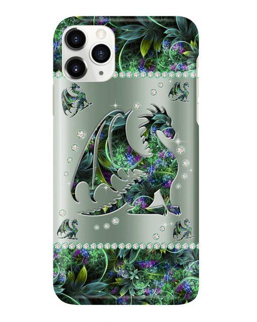 Dragon Metal Flowers Pattern Phone Case1