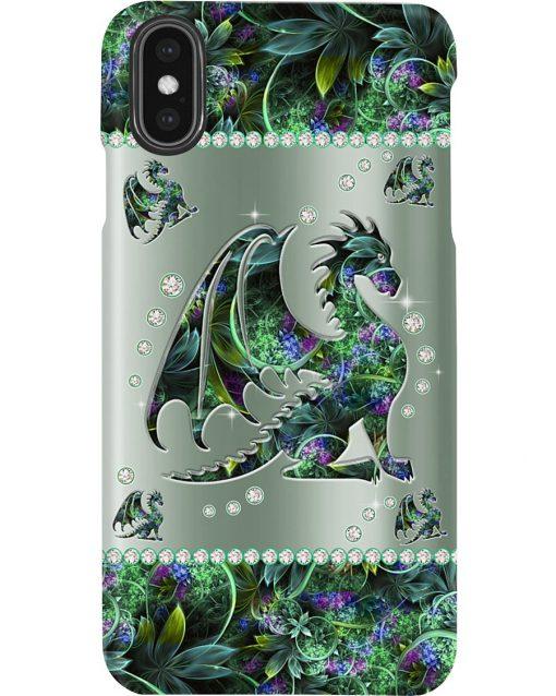 Dragon Metal Flowers Pattern Phone Case2