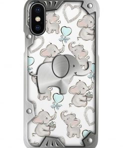 Elephants Metal pattern phone case