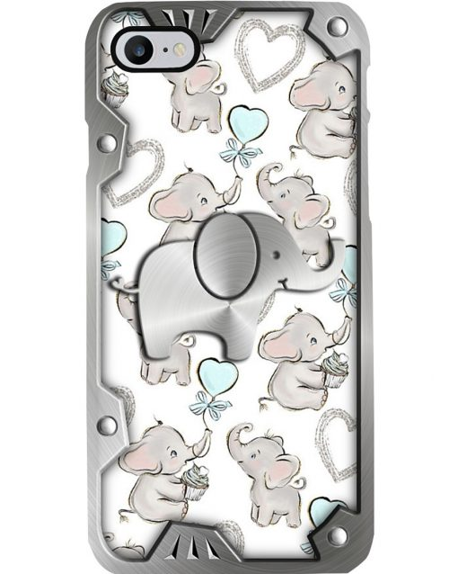 Elephants Metal pattern phone case2