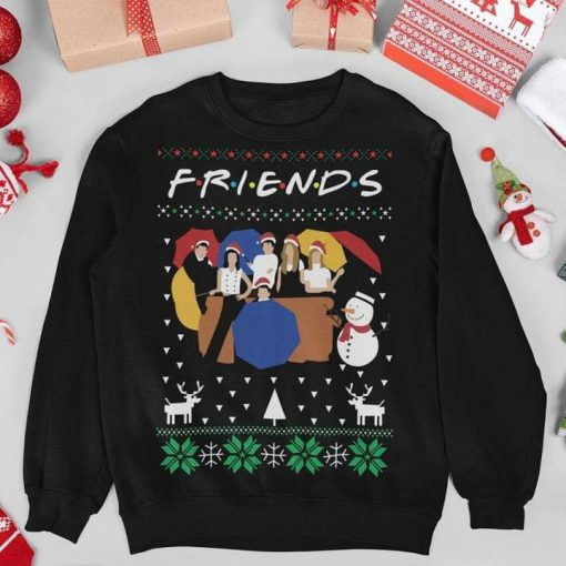 Friends TV Show Ugly Christmas Sweatshirt