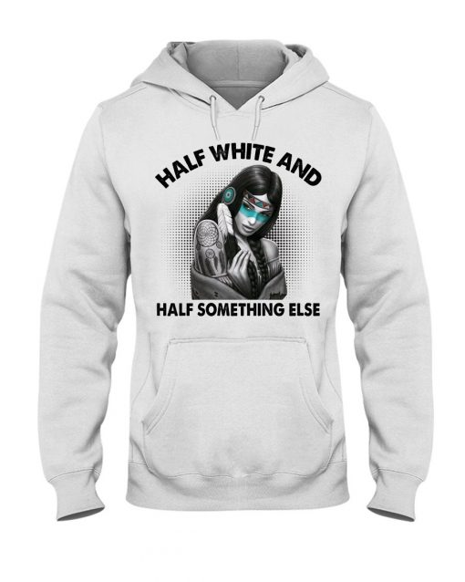 Half white and half something else Hoodie