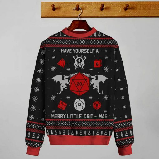 Have Yourself a Merry Little Christmas Dungeons & Dragons Ugly Christmas Sweatshirt