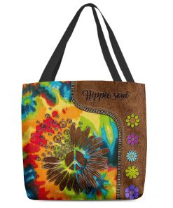 Hippie soul leather pattern All-over print tote bag 2
