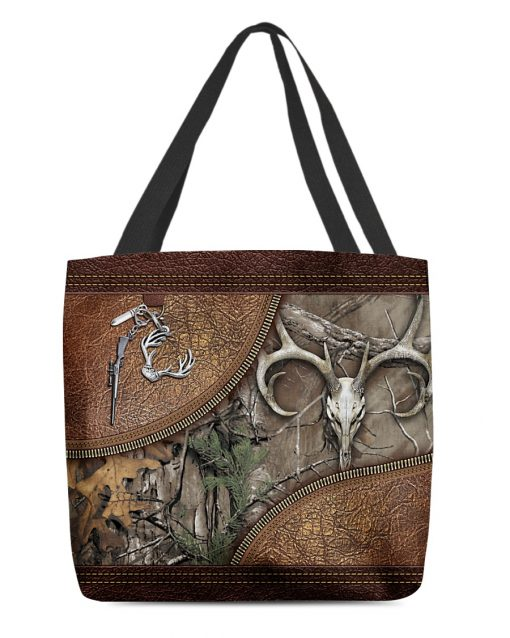 Hunting Camouflage as leather zipper tote bag 2