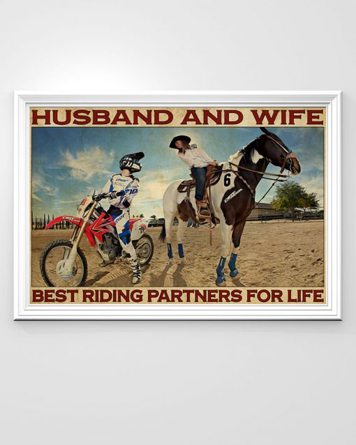 Husband and wife Best riding partners for life Riding Horse And Motor Couple poster 1