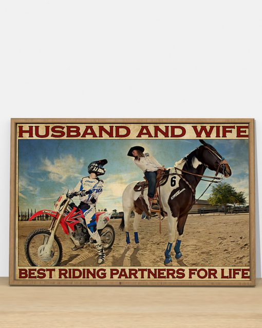 Husband and wife Best riding partners for life Riding Horse And Motor Couple poster 2