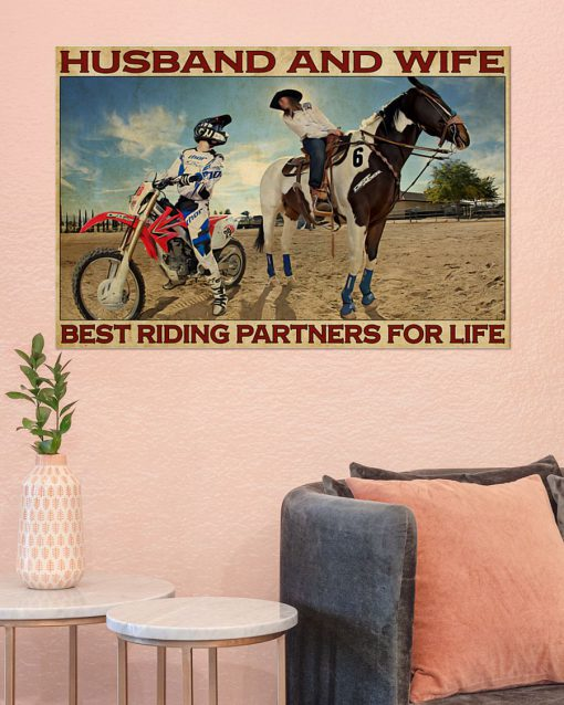 Husband and wife Best riding partners for life Riding Horse And Motor Couple poster 3