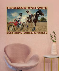 Husband and wife Best riding partners for life Riding Horse And Motor Couple poster 4