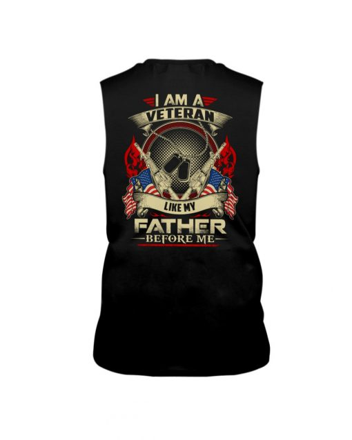 I am a Veteran like my father before me Tank top