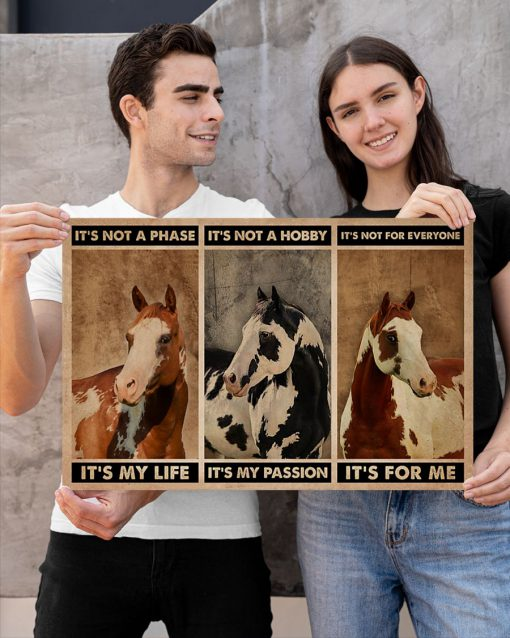 It's not a phase It's my life It's not a hobby It's my passion It's not everyone It's for me American Paint Horse poster 1