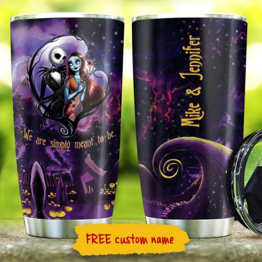 Jack Skellington and Sally we are simply meant to be personalized tumbler3