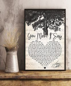 Jason Aldean -You Make It Easy Lyrics Poster 1