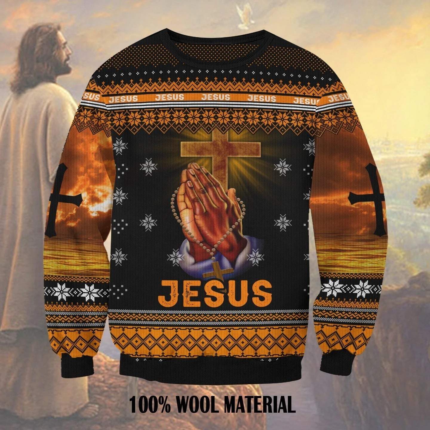 Jesus 3D ugly christmas sweater