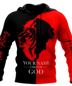 Jesus Child of God The King Lion Customize Name All Over Printed 3D Hoodie