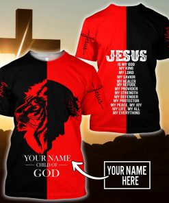 Jesus Child of God The King Lion Customize Name All Over Printed 3D shirt