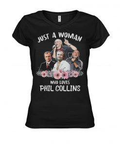 Just a woman who loves Phil Collins v-neck