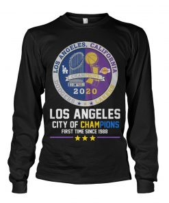 Los Angeles City of champions First time since 1988 Long sleeve