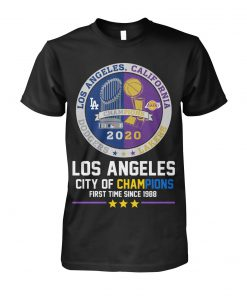 Los Angeles City of champions First time since 1988 T-shirt