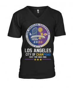 Los Angeles City of champions First time since 1988 V-neck