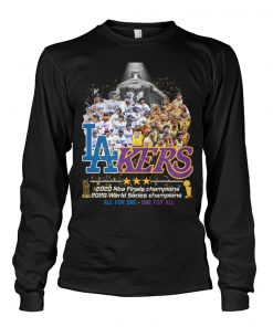 Los Angeles Lakers 2020 NBA finals champions 2020 World Series champions All for one - One for all Long sleeve
