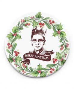 Merry Resistmas Ruth Bader Ginsburg Ornament 1