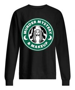 Murder Mystery and Makeup sweatshirt