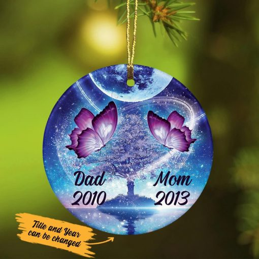 Personalized Butterfly Memorial Ceramic Ornament 1