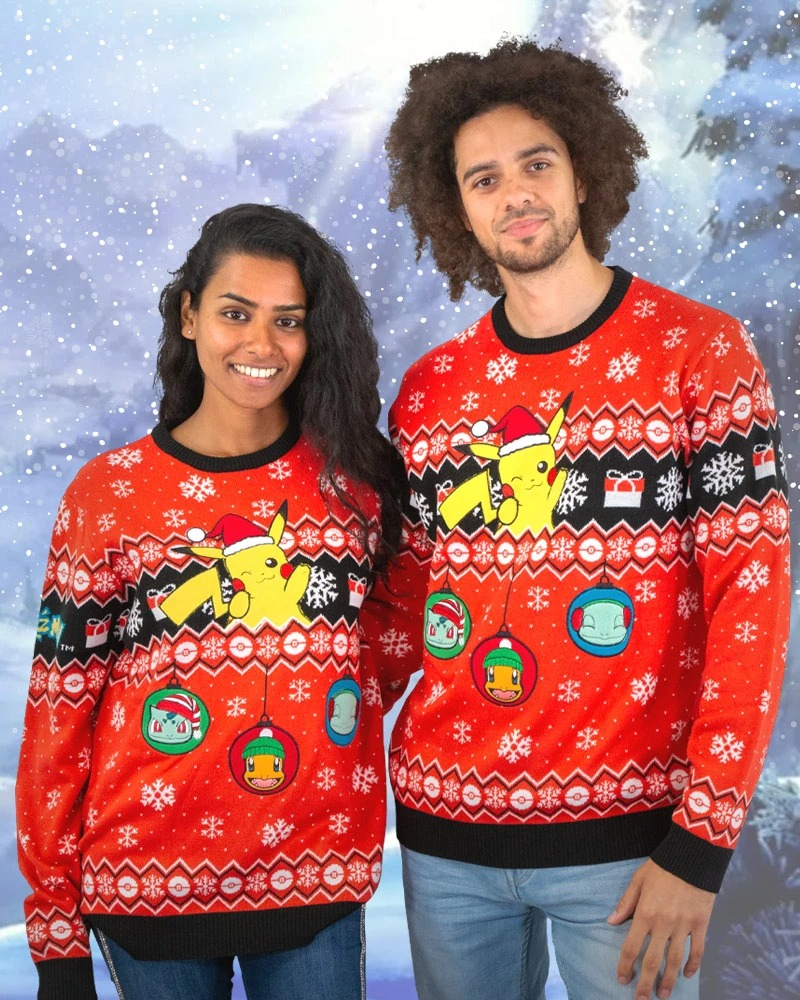 Pikachu Pokémon Ugly Christmas Sweater1
