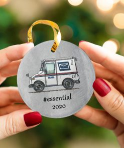 Postal Worker - Mail Carrier 2020 Thank You Essential Circle Ornament 2